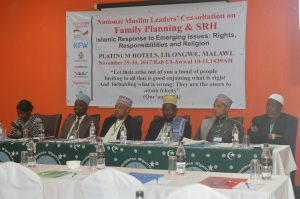 Photo: National Muslim Leaders during the Family Planning and Sexual and Reproductive Health Consultative Meeting
